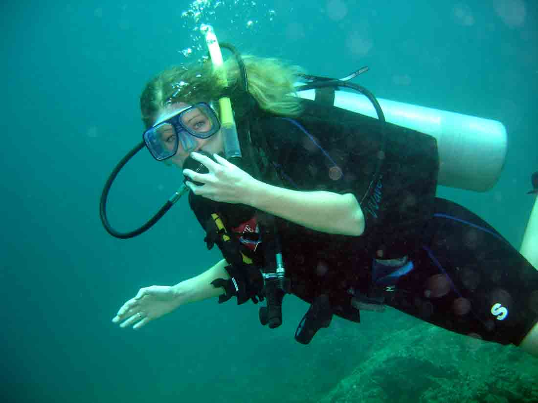 Cherie during her PADI Open Water Course